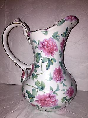 """Japanese Chintz Water Pitcher made by Baum Bros - Formalities - 10"""" Tall"""