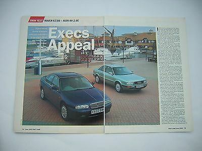 Rover 623 iS v Audi 80 2.6E Road Test from 1993 - Original