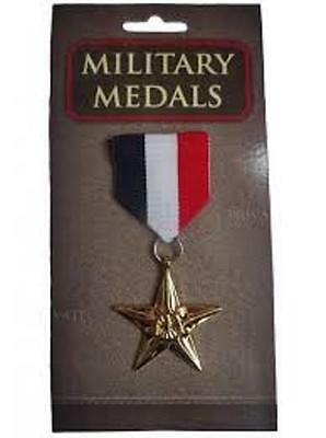 ** 1 X Military Medals Adult Fancy Dress New ** Childrens Novelty Hero Army