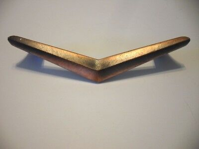 Vtg NOS COPPER Flash Plated DRAWER Cabinet Door PULLS Handles Chevron Boomerangs