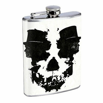Skull Flask D74 8oz Stainless Steel Scary Horror Death Frightening