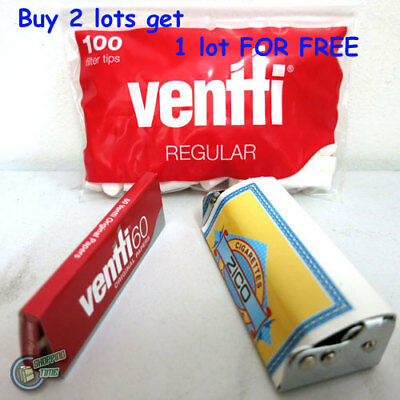 VENTTI Handroller Hand Roller Tobacco Cigarette Rolling Roll Your Own