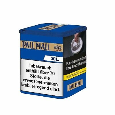 6 x Pall Mall Authentic Blue ohne Aroma XL à 65 Gramm Zigarettentabak / Tabak
