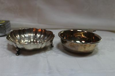 2 Vintage Silver  1 Footed Oneida and 1 Primrose Plate EP Copper Bowl
