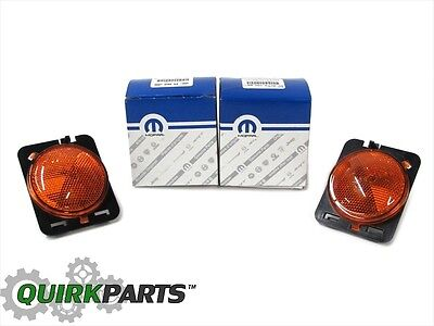 07-17 Jeep Wrangler Right & Left Fender Flare Lamp Side Marker Set MOPAR OEM NEW