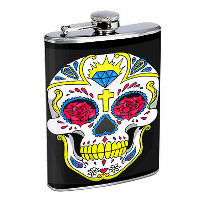 Skull Flask D84 8oz Stainless Steel Scary Horror Death Frightening