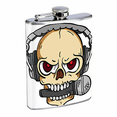 Skull Flask D92 8oz Stainless Steel Scary Horror Death Frightening
