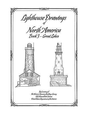 Lighthouse Drawings of North America - Book 3 - Great Lakes - Architecture