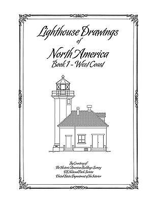 Lighthouse Drawings of North America - Book 1 - West Coast