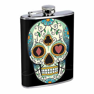 Skull Flask D16 8oz Stainless Steel Scary Horror Death Frightening