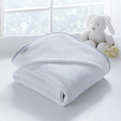New Clair De Lune Waffle White Baby Luxury Soft Hooded Bath Time Towel