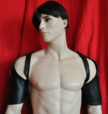 Black leather buckle chest harness jock thong underwear gay 278usa