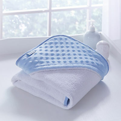 New Clair De Lune Dimple Blue Baby Boys Luxury Soft Hooded Bath Time Towel