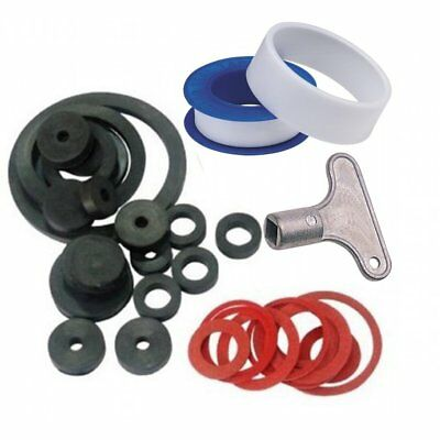 Assorted Plumbing Plumber Washers Sink Rubber O-Ring Seal PTFE Radiator Bleed