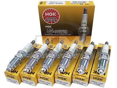 6 pcs NGK V-Power Spark Plugs #2683 Premium OEM Set TR551