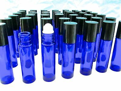 20pc Perfume Fragrance Essential OIL Cobalt Glass Roll-on Bottles Aromatherapy!