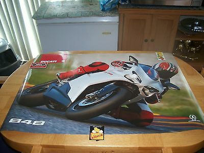 DUCATI 848 DUCATI FACTORY 2 SIDED POSTER , DEALER ONLY!