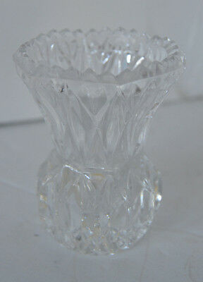 Vintage Star Heavy Crystal Scalopped Toothpick Holder