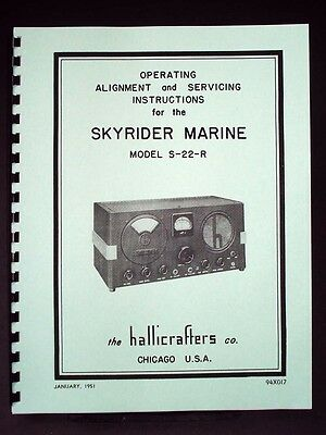 Hallicrafters S-22-R Skyrider Marine Alignment and Servicing Manual