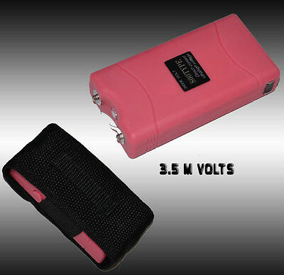Pink Self Defense Kit w/ Stun Gun and Keychain Pepper Spray