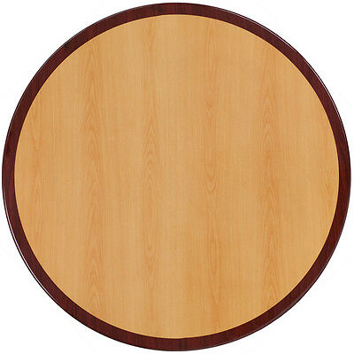 Flash Furniture 30Inch Round Two-Tone Resin Cherry & Mahogany Table Top Table