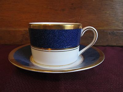 """COALPORT ATHLONE BLUE CUP AND SAUCER- 2 1/4"""""""