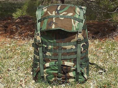YOU ARE BUYING ONLY MOLLE II Woodland Camo Large Equipment Ruck Sack