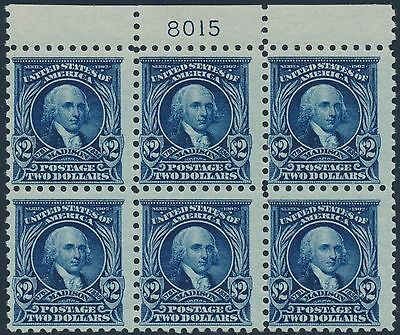 #479 Top Plate Block Of 6 (4)Nh (2)Lh With Cert Cv $4,250 Wl8806