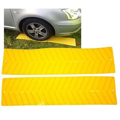 2 X Yellow Grip Mat Caravan Trailer Vehicle Tyre Wheel Anti Slip Maypole MP 536