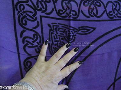 ALTAR TAROT CLOTH TRIQUETRA 914 mm Wicca Pagan Witch Goth Punk Ritual Charmed