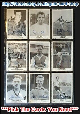 A&Bc 1961 Footballers Plain Back (G/F) ***Pick The Cards You Need***