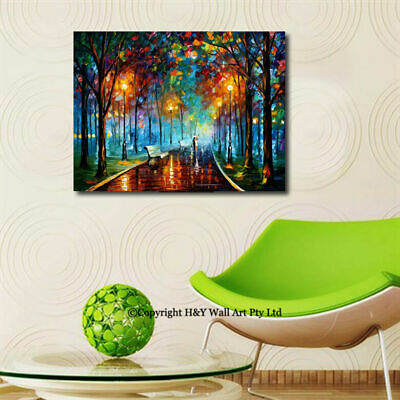 Romantic Nights III Stretched Canvas Print Framed Wall Art Home Decor Painting