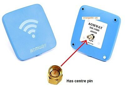 Aomway 5.8GHz CP Patch antenna 14Ddbi (RHCP) Rear Mount - SMA - Fatshark FPV