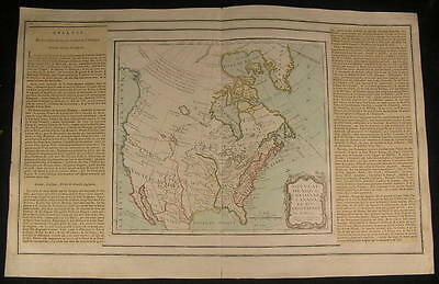North America River of West Quivira 1766 beautiful old vintage antique rare map