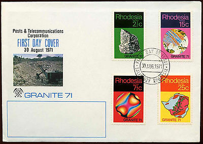 Rhodesia 1971 Grantite, Geological Symposium FDC First Day Cover #C15241