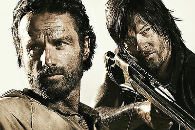The Walking Dead Rick and Daryl WALL ART CANVAS FRAMED OR POSTER PRINT