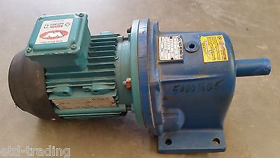 Rossi Inline Gearbox Type Mr-3163Pc1A With Brook Crompton 0.75Kw 415V Motor