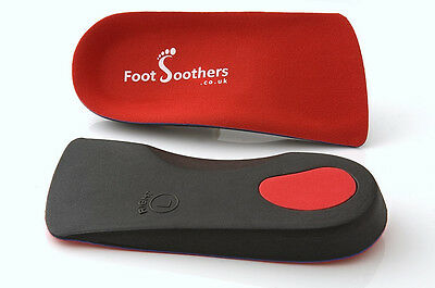 FootSoothers™ R3D 3/4 Orthotic Insoles Arch Support Pronation Fallen Arches Flat