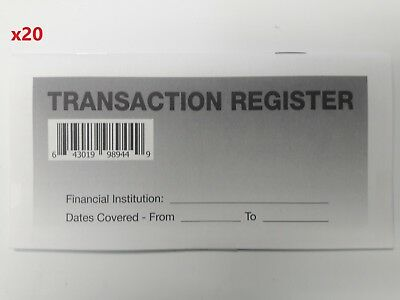 20 - Checkbook Transaction Registers - 2019-21 Calendar - Check Book Bank