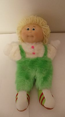 RARE VINTAGE Cabbage Patch Kids Puppet Doll - Green And White Plush Body