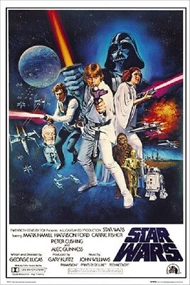 """Star Wars Poster """"movie Cover"""" Licensed """"brand New"""" Vader, Anakin, Yoda"""