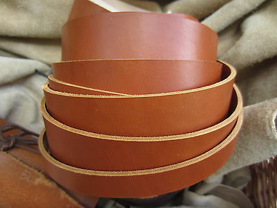 "75"" EXTRA LONG SADDLE TAN 2-2.4mm THICK REAL COWHIDE LEATHER STRAP VARIOUS WIDTH"