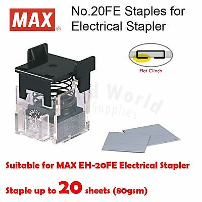 MAX No.20FE Staple Cartridge, 2000 staples for MAX EH-20F Electric Stapler ONLY