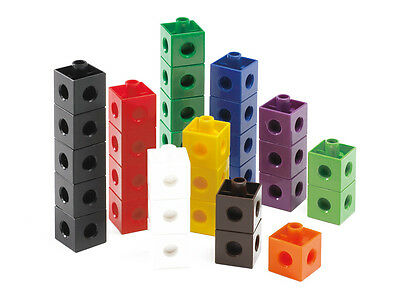 100 Snap Cubes/Unifix linking cubes interlocking Learning Resource Maths