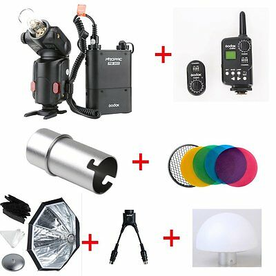 Godox 180w Outdoor Flash & Battery + FT-16 Trigger + Softbox + Soft Diffuser Kit