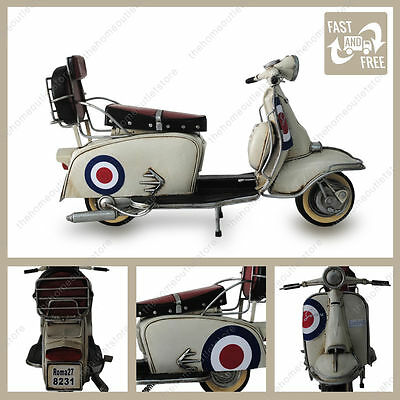 1966 Lambretta Scooter 200sx Special Tin Plate Model Ornament With Target Livery