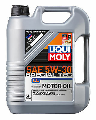 Liqui Moly Special Tec LL SAE 5W-30 Fully Synthetic Engine Oil 5L 2249