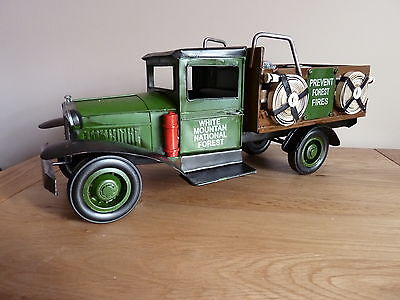 Ford Model Aa Fire Truck, Tin Plate Model, Great Gift.