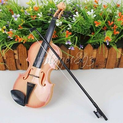 Kids Violin & Bow Childs Childrens Musical String Instrument Toy for Practice