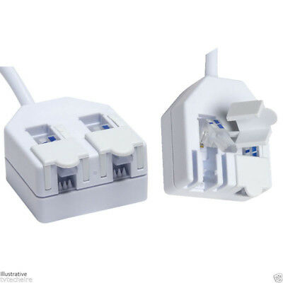 RJ11 Double Adapter with Tool-less wire termination TA 11